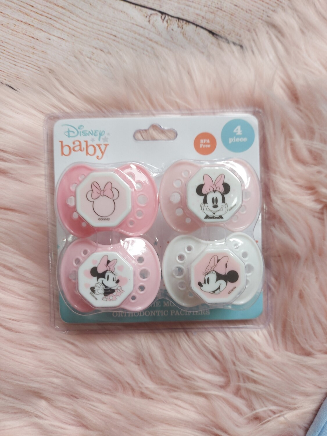 Pack 4 chupones, Minnie Mouse