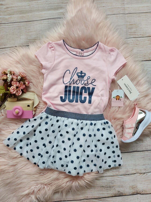 Set blusa rosa y falda tull , Juicy Couture, 24m