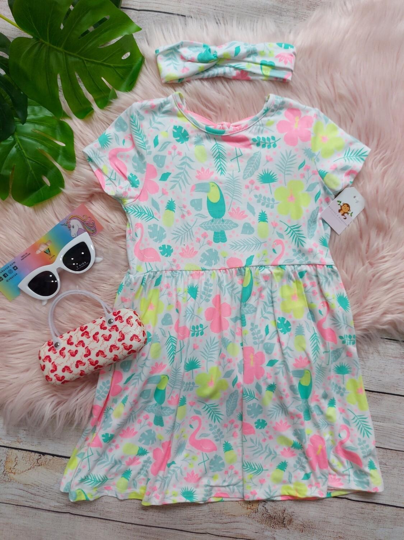 Vestido tropical + cintillo , 6t