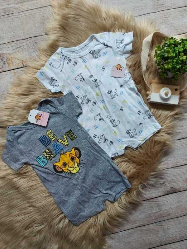 Set 2 rompers Simba, 3 a 6 meses