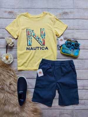 Set Náutica, camiseta + bermuda azul, 6 años