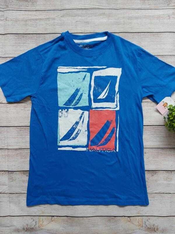 Camiseta Nautica color azul, Talla 14-16 años