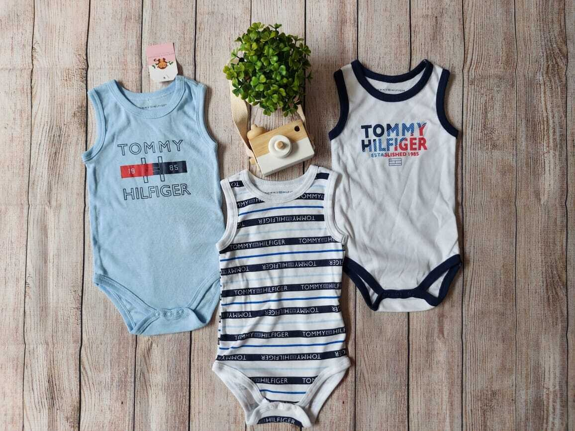 Pack 3 bodysuits Tommy Hilfiger, 6 meses