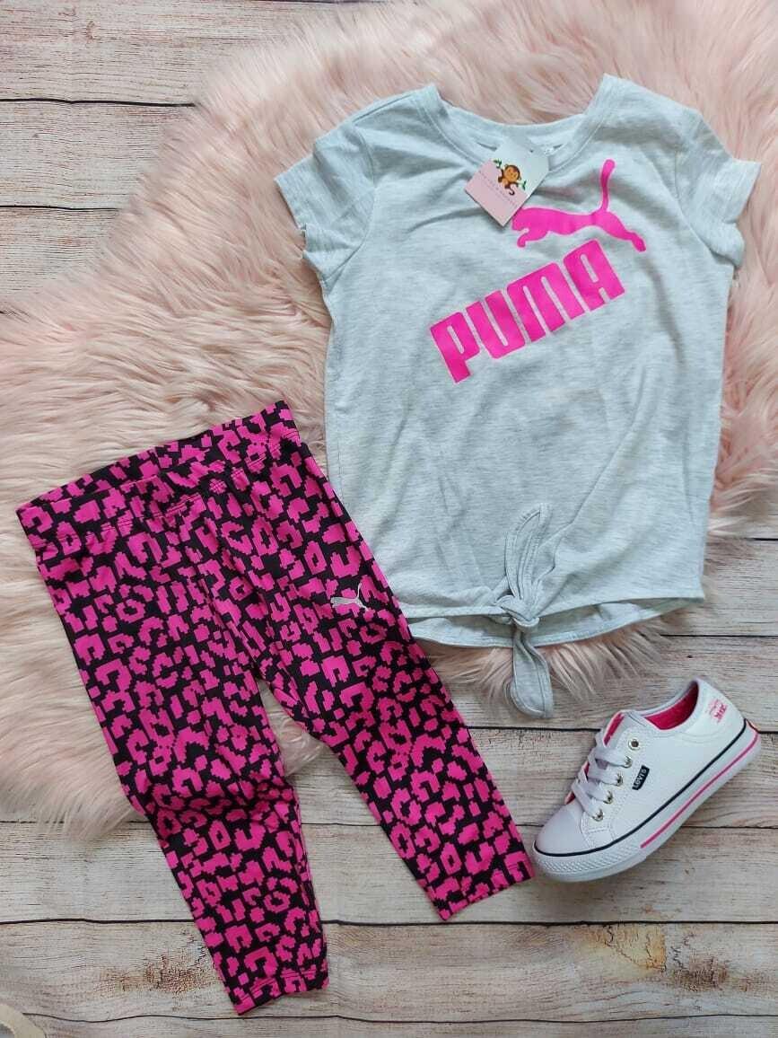 Set 2 piezas Puma, Camiseta + leggins, 5t