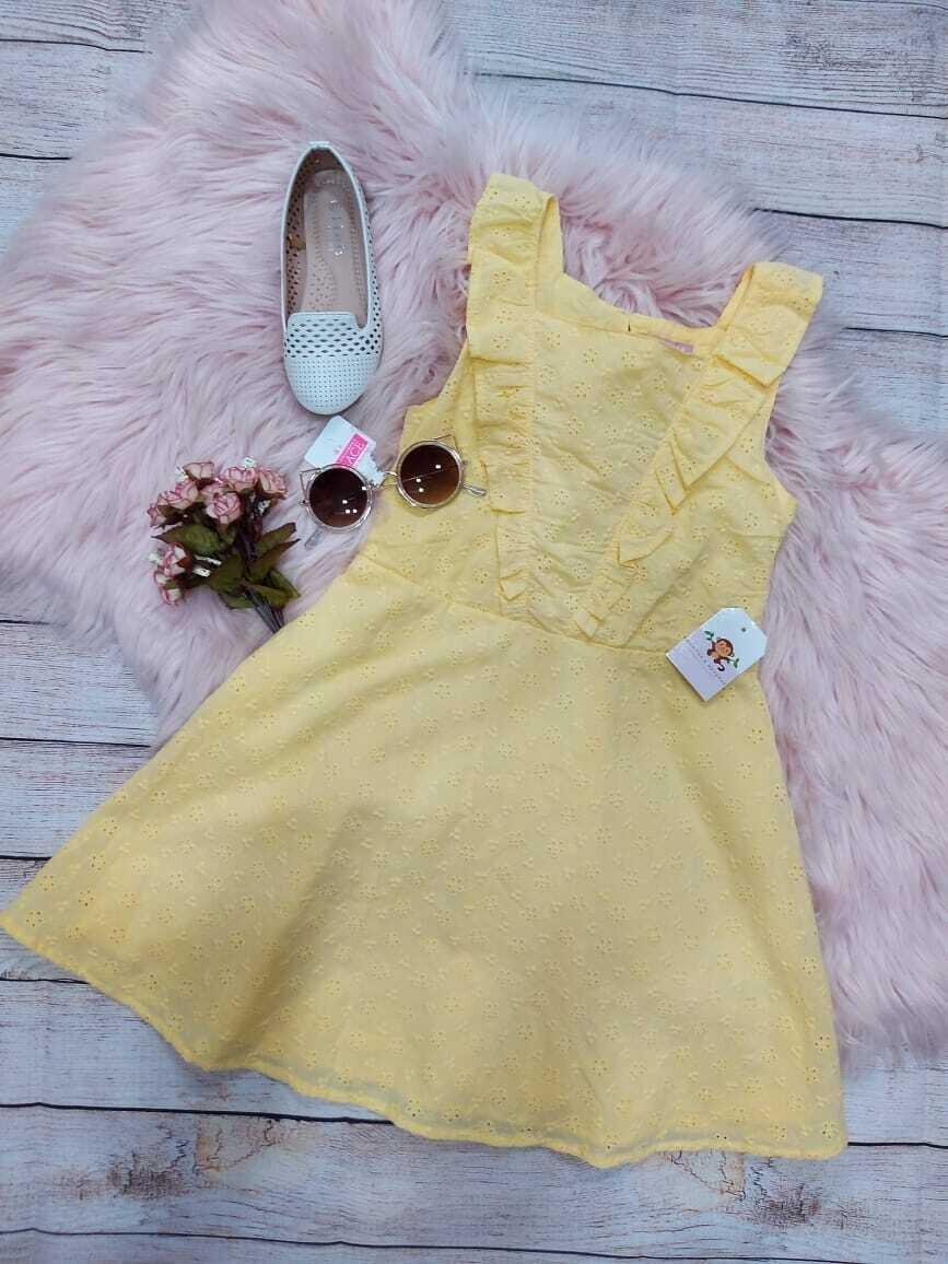 Vestido amarillo pastel, 6 años