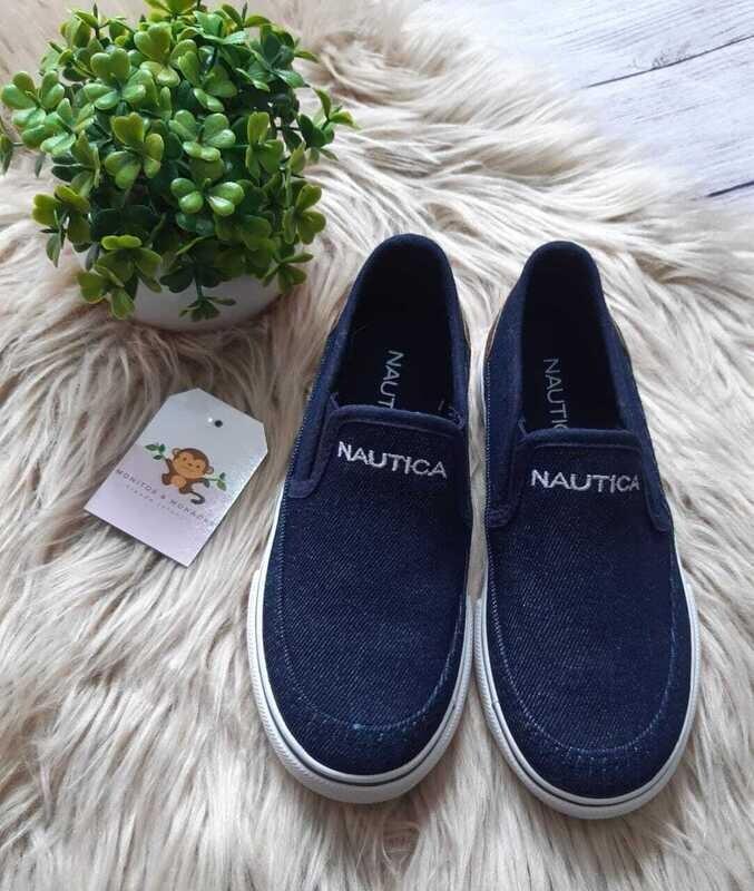 Zapatos casuales Nautica, tipo denim, Talla 11us