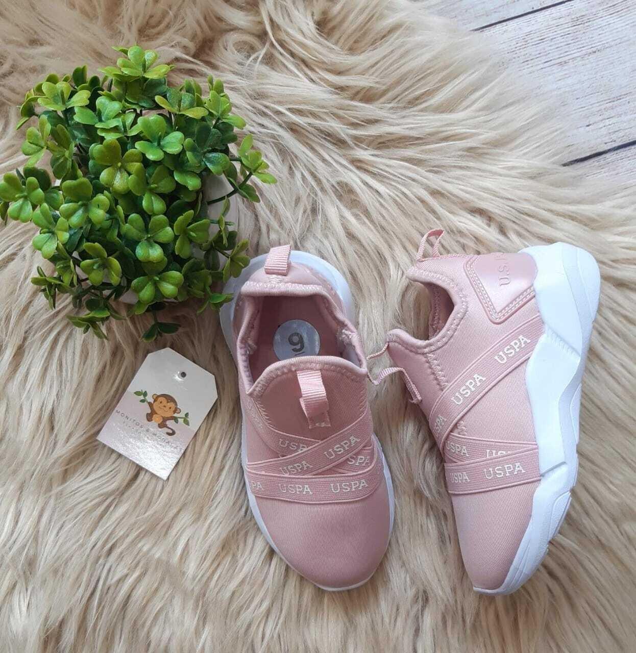 Zapatos Polo Assn rosados, Talla 9C us