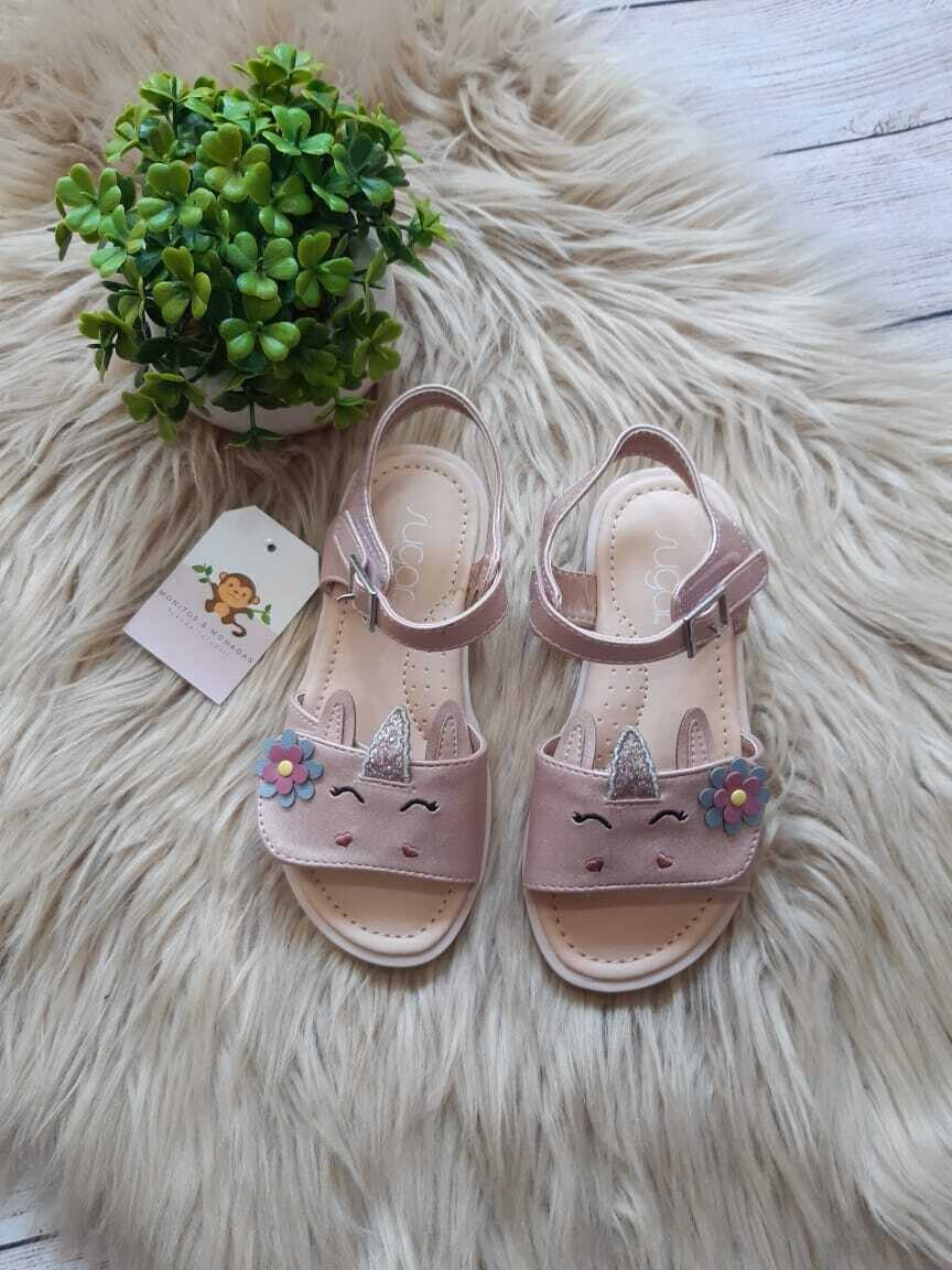 Sandalias rosadas de Unicornio, Talla 10 us