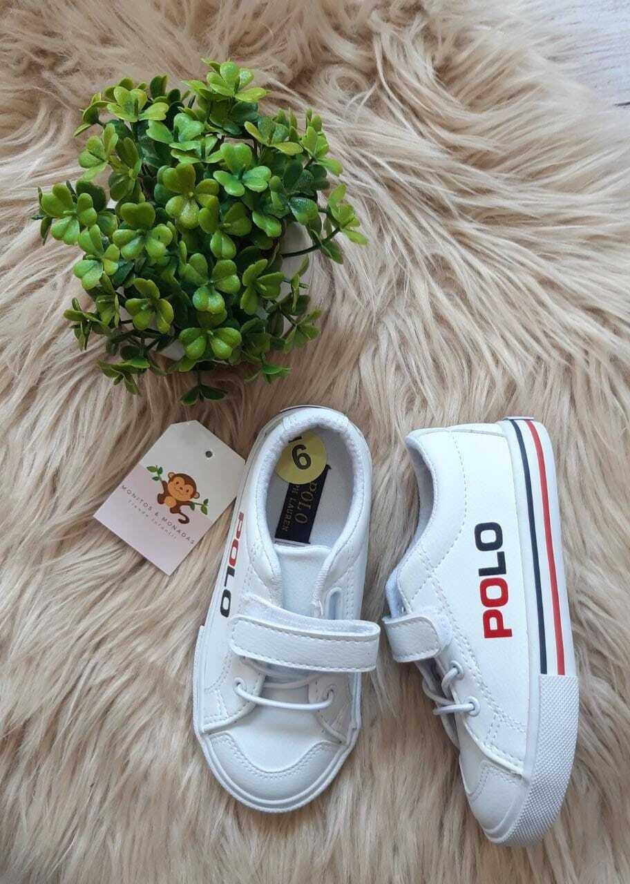 Zapatos Polo Ralph Lauren blancos, Talla 9 us