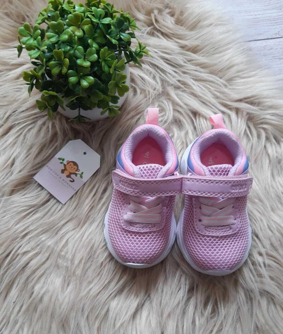 Zapatos con luces Carters rosados, talla 4us