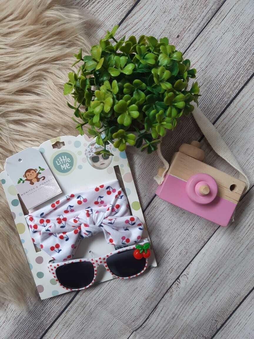 Pack Cintillo + gafas de cerezas, Talla Rn hasta 3 años