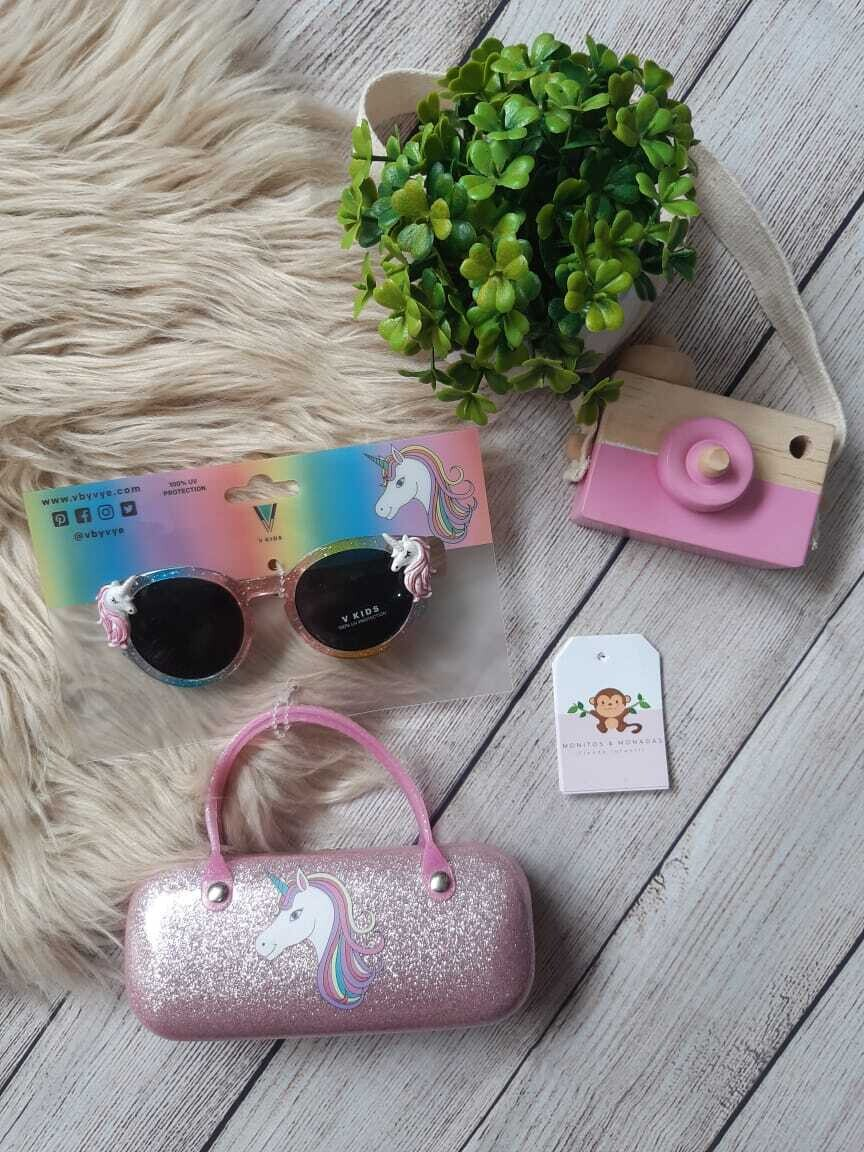 Set cartera unicornio + gafas con detalles de unicornios