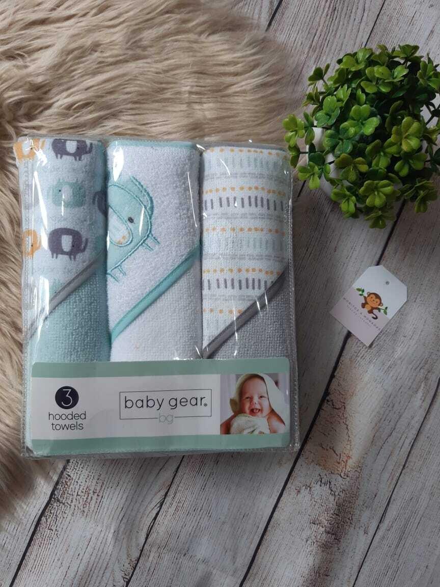 Pack 3 toallas de niño, detalles de animalitos