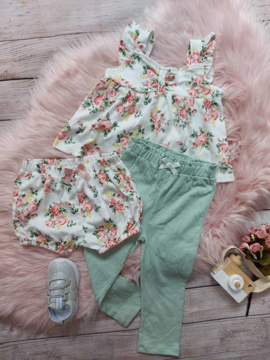 Set 3 piezas, Blusa + short + pantalón, 18 meses
