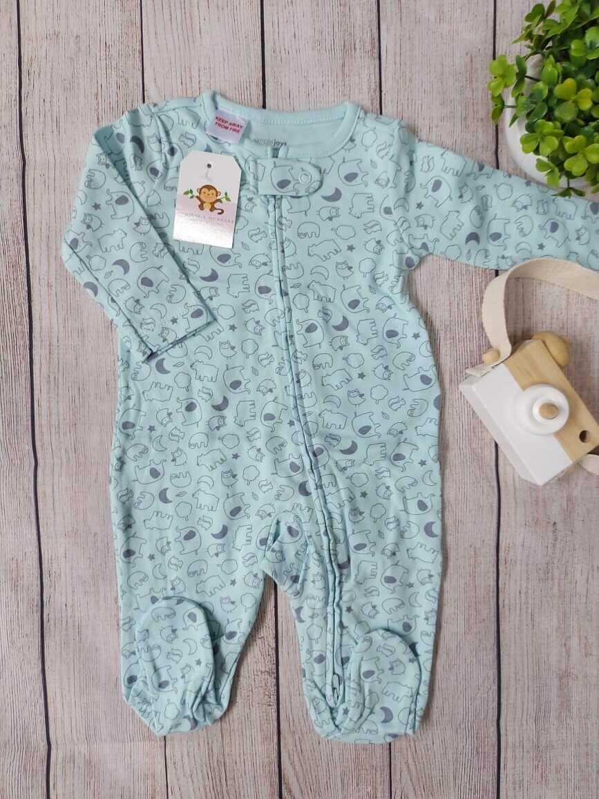Pijama celeste de ositos, Carters,  0 a 3m