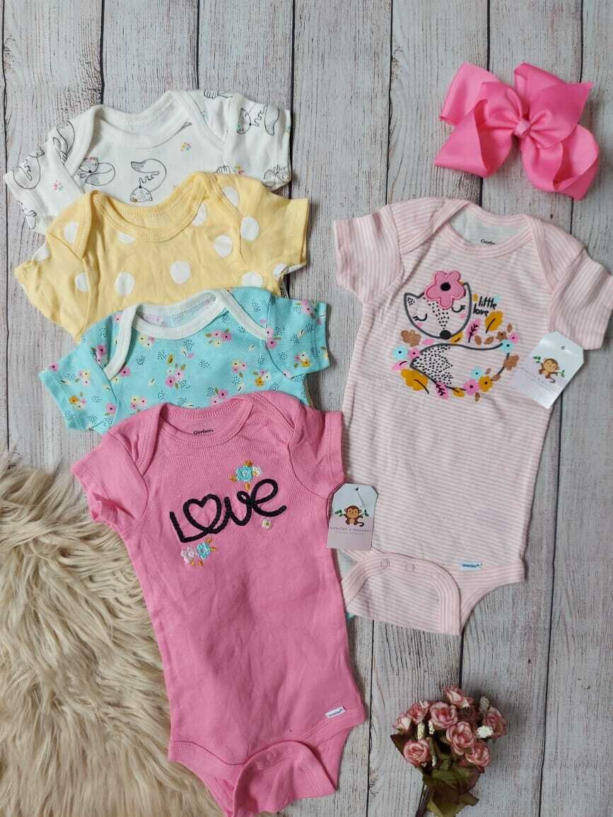 Pack 5 dobysuits Gerber, 3 a 6 meses
