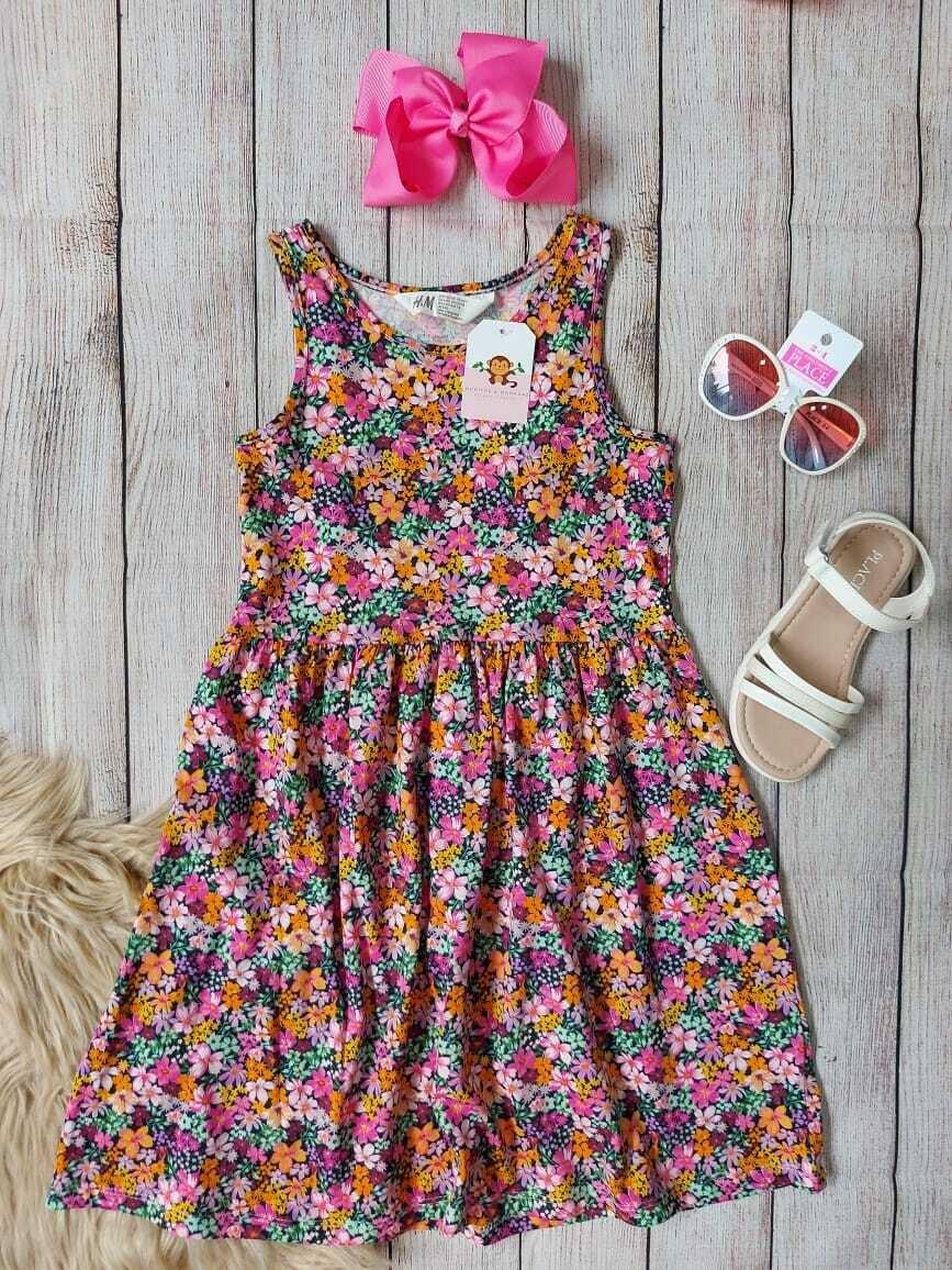 Vestido floreado H&M, 6-8 y 8-10 años