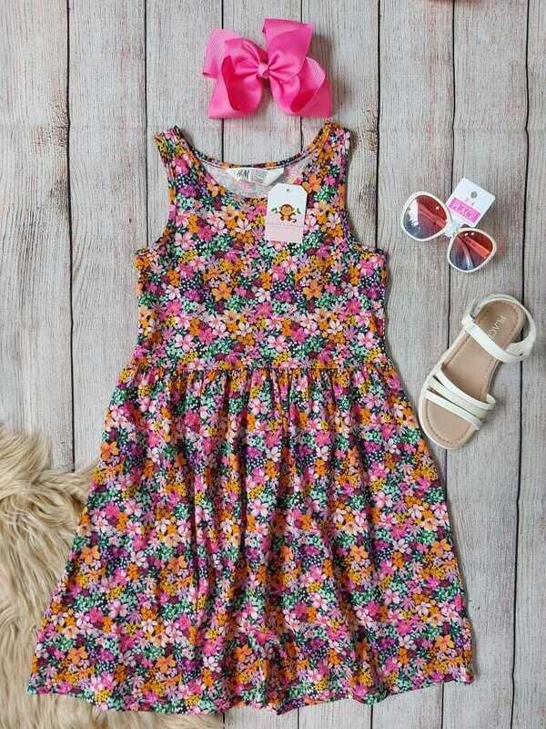 Vestido floreado H&M, 6-8 años