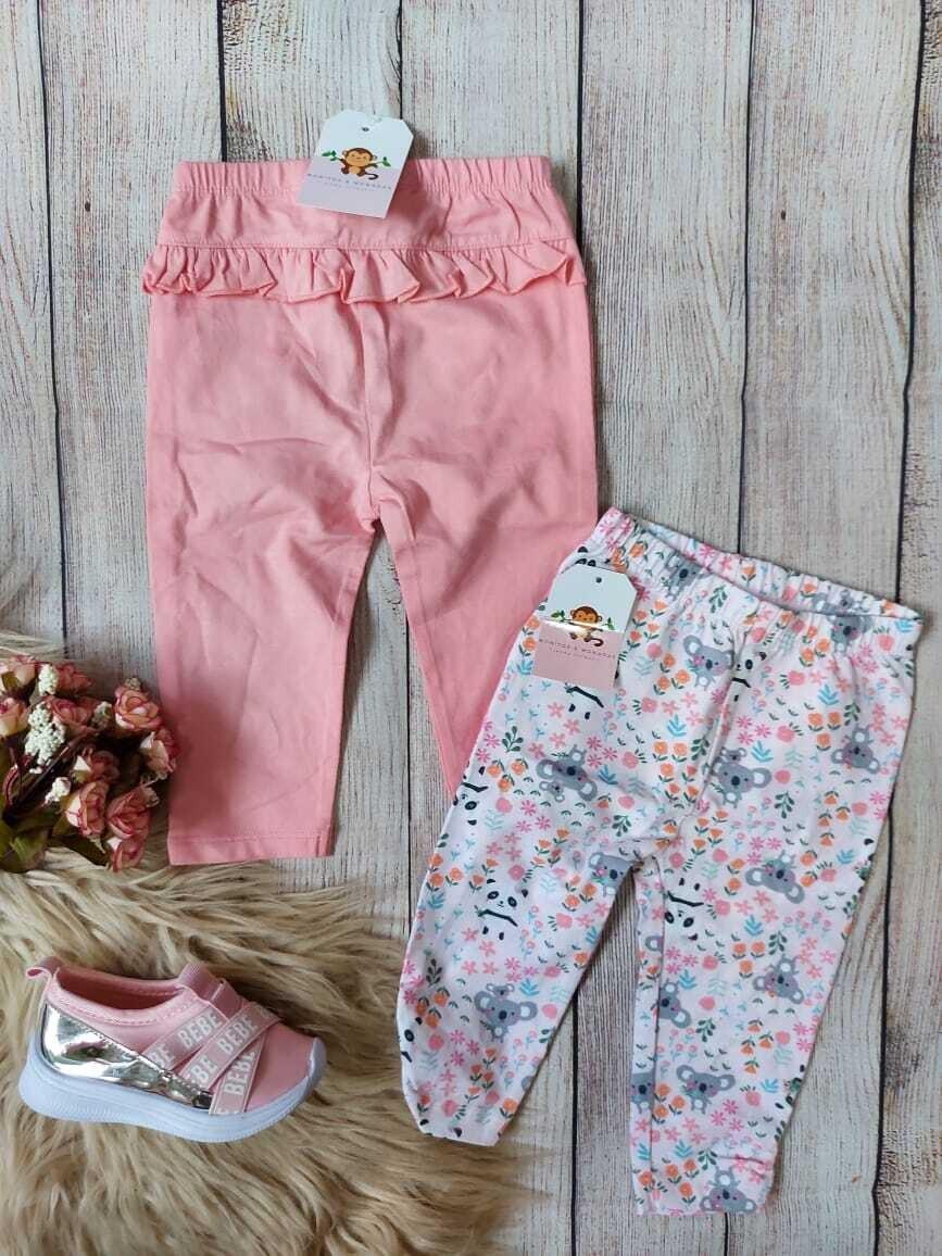 Pack 2 pantaloncitos, 0 a 3m y 3 a 6m