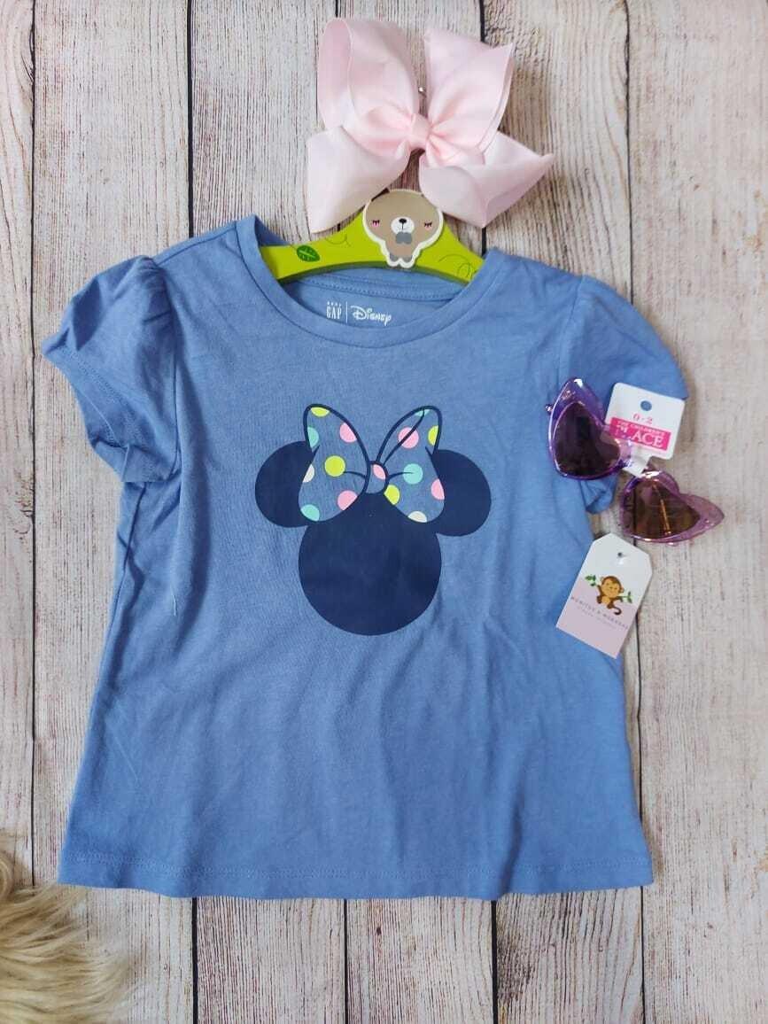 Camiseta lila Gap, Minnie Mouse, 3 y 4 años