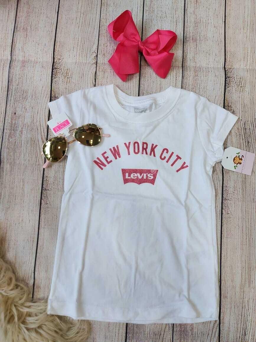 Camiseta Levi's blanca, 4 años