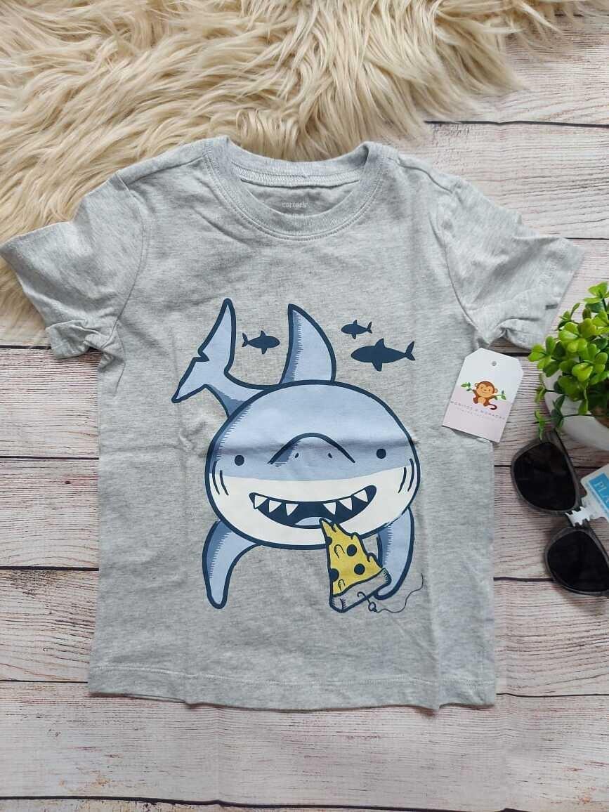 Camiseta Carter's, gris de tiburon, 3 y 4 años