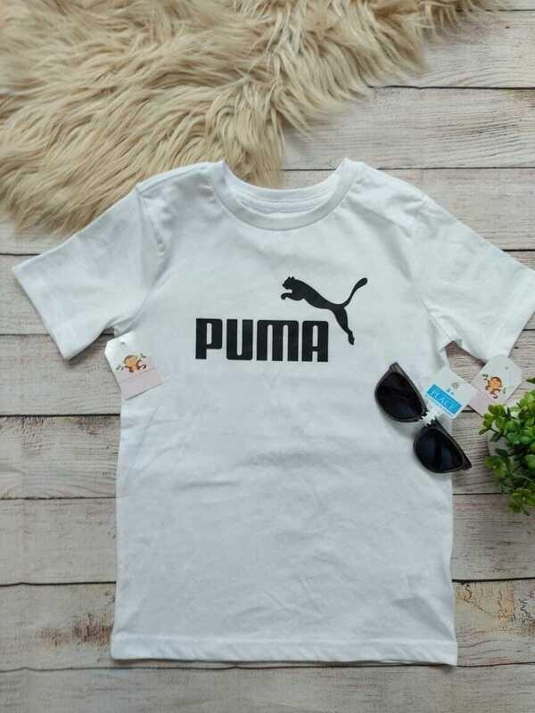 Camiseta blanca Puma, 7 años
