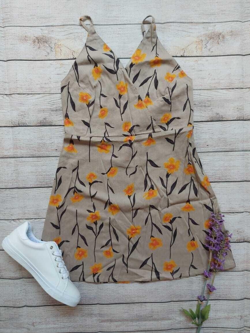 Vestido floreado, Talla small (8)