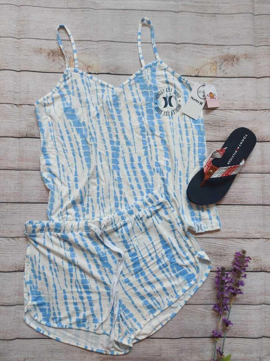 Pijama Hurley, 2 piezas, Talla Large