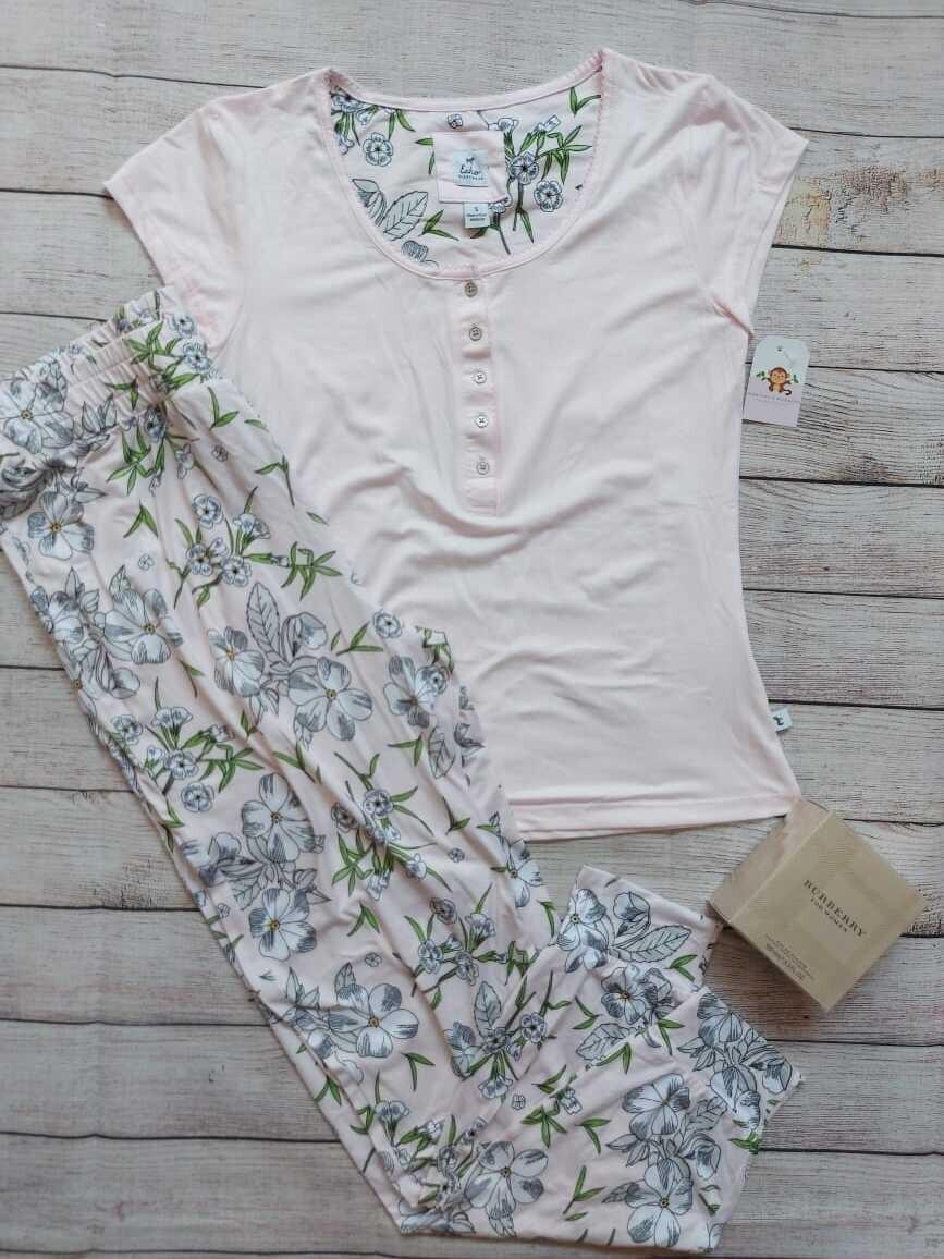 Pijama 2 piezas, Pantalón + camiseta, Talla Small