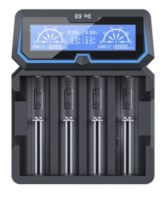Battery Charger: XTAR X4 (Four Bay)