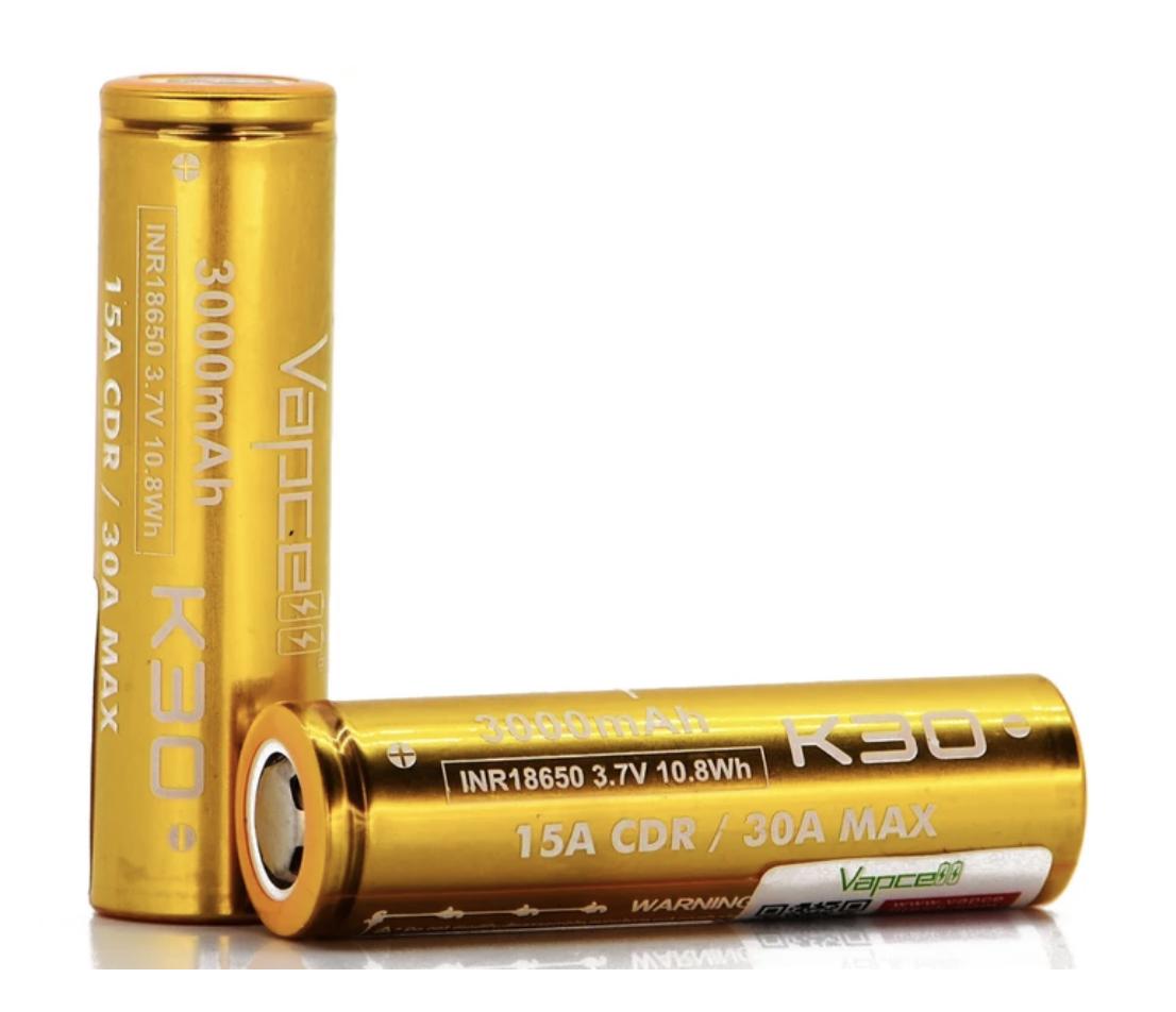 Vapcell Batteries 18650 (2 Pack)
