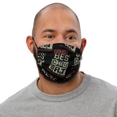Total Bescheuert Gesichtsmaske Black