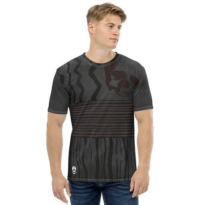 Men's T-shirt Gray-Ancient-Skull