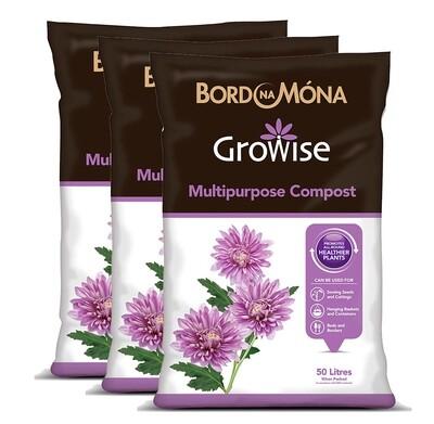 Growise Multi-Purpose Compost 50L (3 Bags)