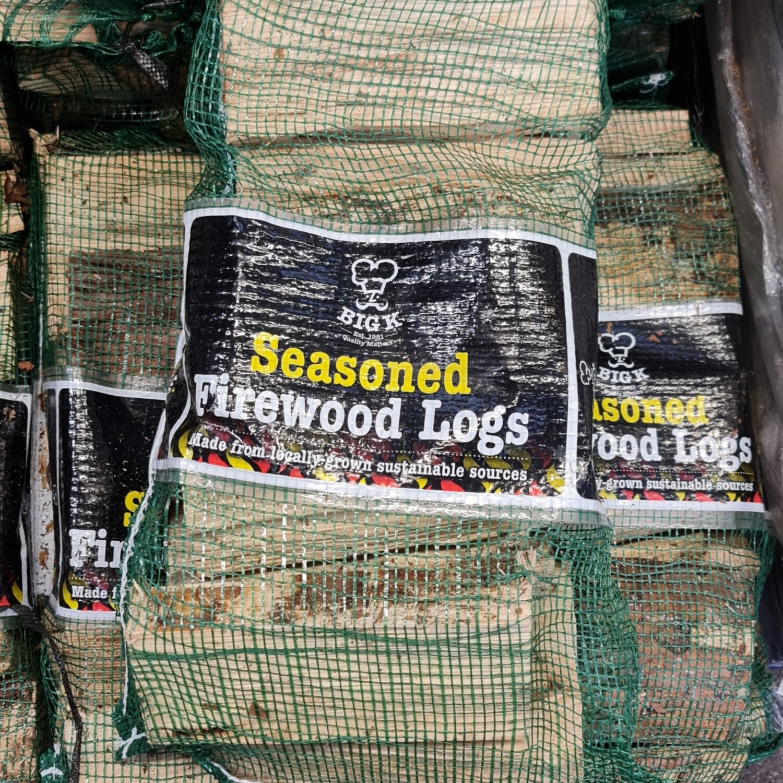 BigK Seasoned Firewood Logs (3 bags)