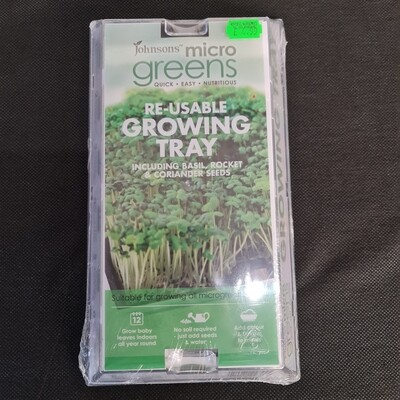 Re-usable growing tray