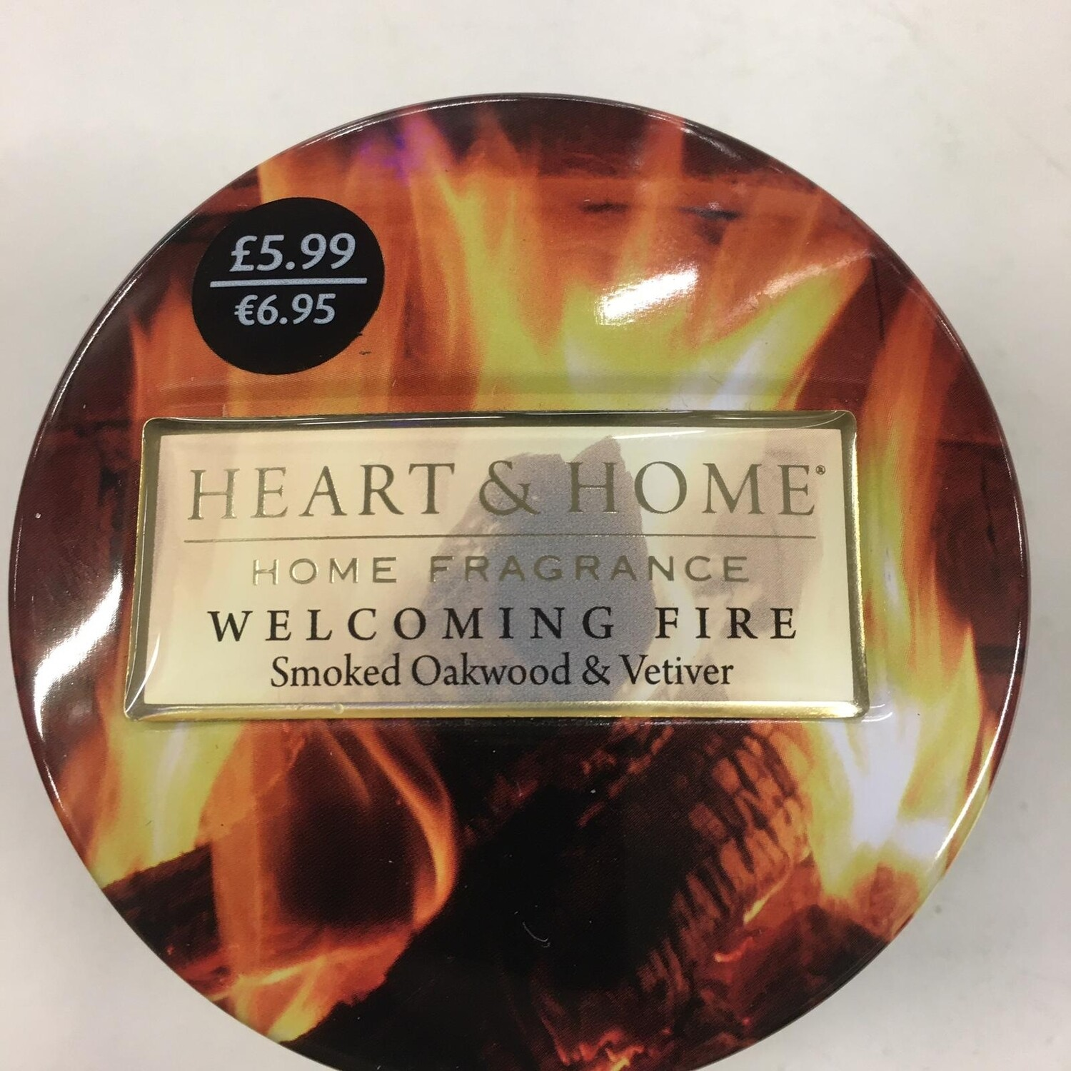 Hearts and Home Candle Welcoming Fire