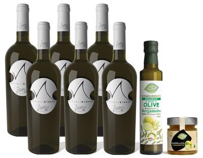 Alfieribianco - Confezione 6 Bottiglie Vino bianco IGT Calabria