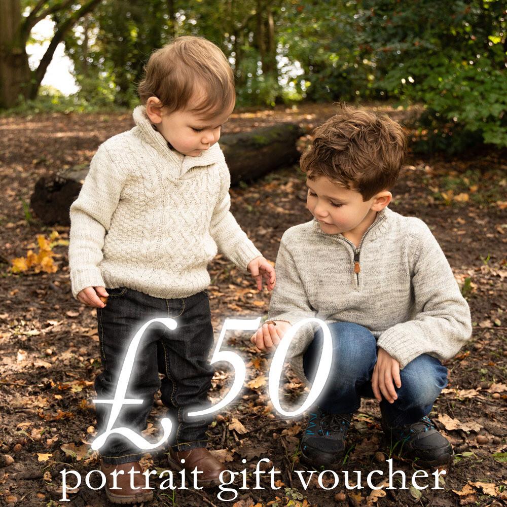 £50 portrait photography gift voucher