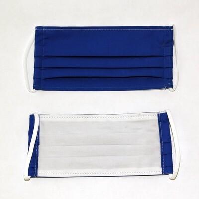 Gesichtsmaske zweilagig blau/weiss