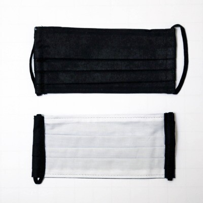 Gesichtsmaske zweilagig schwarz/weiss