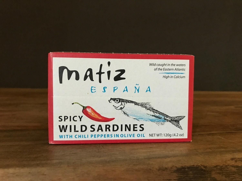 Matiz Sardines w/Chili Olive Oil120g