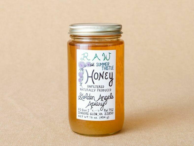 Golden Angels Summer Thistle Raw Honey 16oz