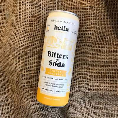 Hella Bitters & Soda Ginger Turmeric
