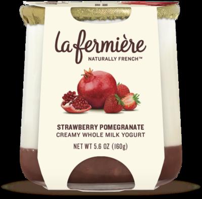 Yogurt, La Fermiere Straw/Pom