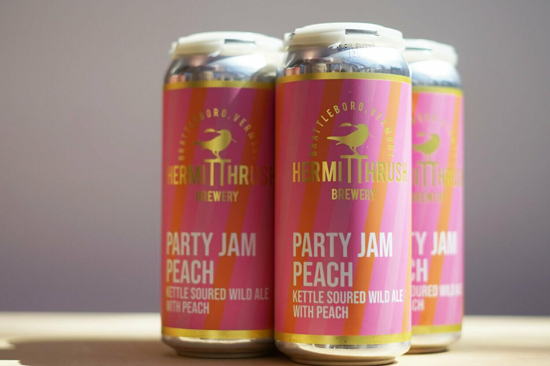 Hermit Thrush Party Jam Peach 4pk