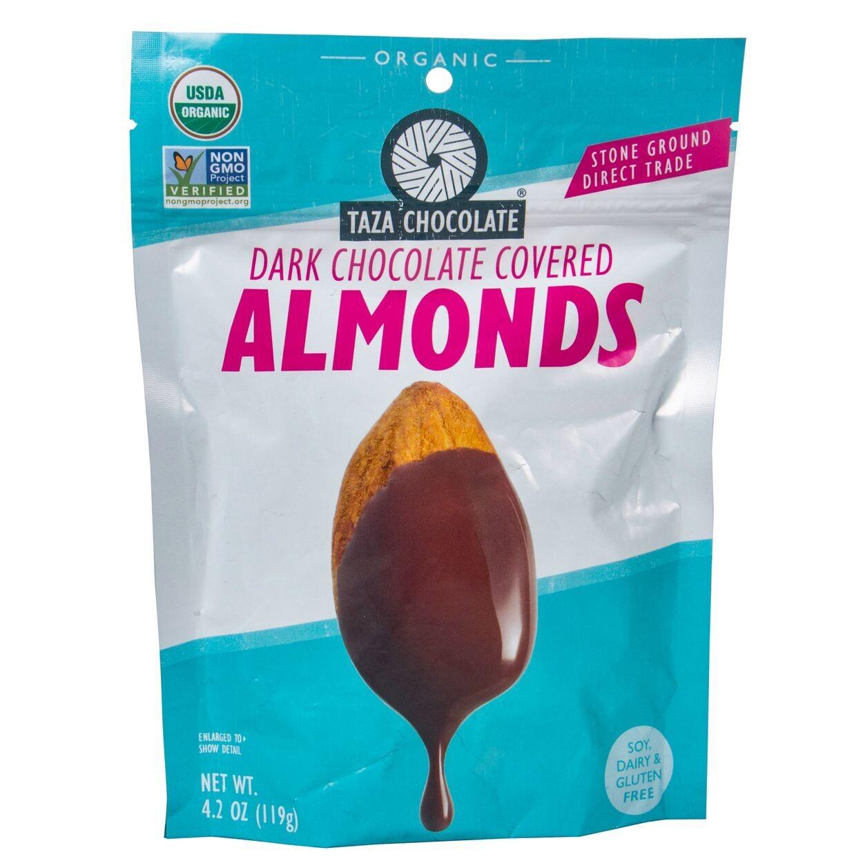 Taza Dark Chocolate Almonds