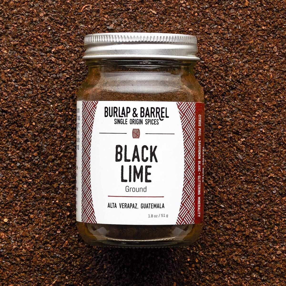 Burlap Black Lime