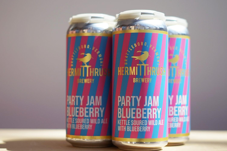 Hermit Thrush Party Jam Blueberry 4pk